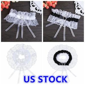 Women-Satin-Lace-Ribbon-Bridal-Wedding-Garters-Belt-Bride-Prom-Party-Bowknot