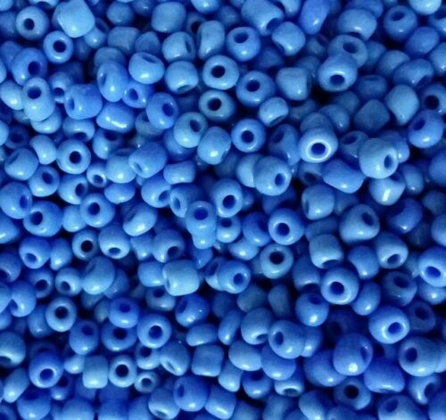 Perles de rocaille  4mm 20g bleu pâle