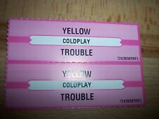 """2 Coldplay Yellow / Trouble Jukebox Title Strip CD 7"""" 45RPM Records"""