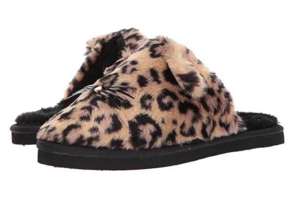 ca1c1a2aa70d NEW KATE SPADE NEW YORK BELINDY CAT SLIPPERS LEOPARD PRINT SIZE 6  MSRP  78.00