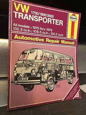 Haynes Workshop Manual VW Transporter 1700 1800 2000 VW Bus 1972 ...