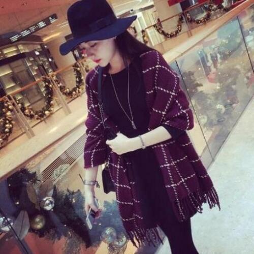Za Plaid Scarf Women 2019 Black Fashion Warm Women Scarves Winter Cashmere Scarf