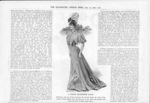 1906-Antique-Print-FASHION-Ladies-Promenade-Gown-Heliotrope-Voile-Cambrie-75