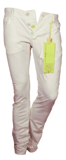 Nuova costo moderato bene Jeans Pantalone bianco uomo Zu Elements Casual Sportivo Slim cotone 42 (W28)