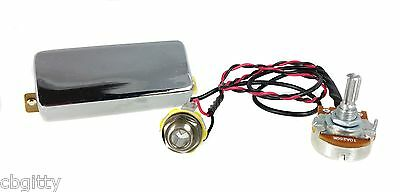 """Chrome """"Snake Oil"""" Mini Humbucker Pre-Wired Pickup with Volume Control"""