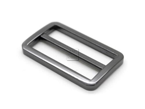 """2pcs 1-1//2/"""" Metal Slide Buckle Triglide Purse Strap Keeper Bag Belt Adjuster"""