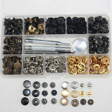 13mm x100 Sets Heavy Duty Snap Fasteners Poppers Press Stud Kit Buttons Tools UK