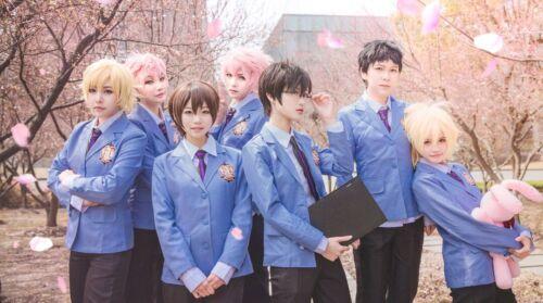 Anime Ouran High School Host Club Tamaki Suoh School Uniform Cosplay Costume Set