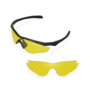 a82319f9ee Image is loading New-Walleva-Yellow-Replacement-Lenses-For-Oakley-M2-