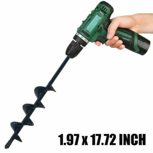 """8/"""" 18/"""" Planting Auger Spiral Hole Drill Bit For Garden Yard Earth Bulb Planter"""