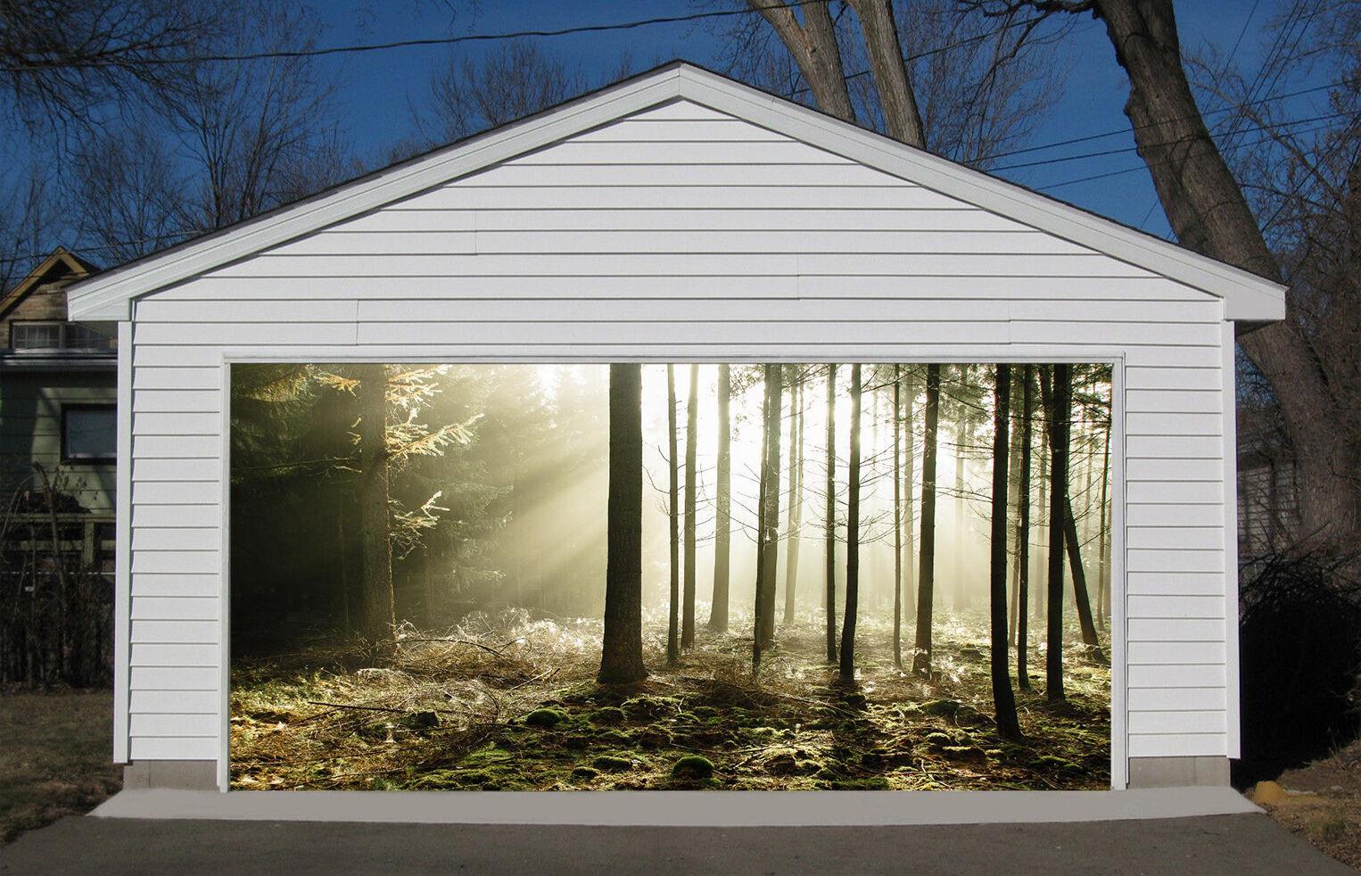 3D Sunny Forest 37 Garage Door Murals Wall Print Decal Wall Deco AJ WALLPAPER IE