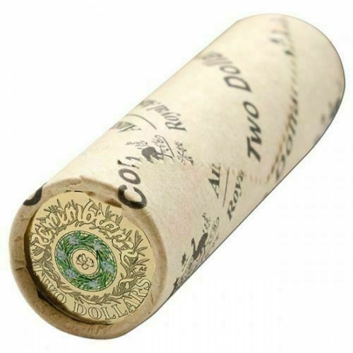 2017 $2 ANZAC Remembrance Day Rosemary Royal Australian Mint Coloured Coin Roll