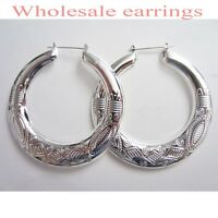 12 Pairs Wholesale Fashion Lot Jewelry Earrings-silver Plated Color