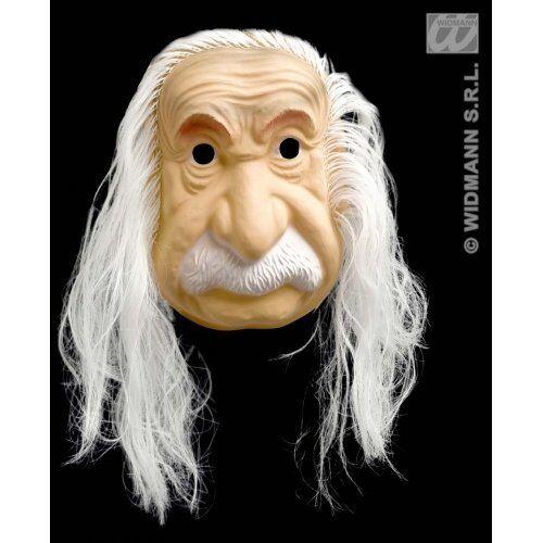 Maschera Albert Einstein Con Capelli Carnevale Halloween Feste Travestimenti