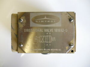 CINCINNATI-MILLING-MACHINE-CO-DIR-VALVE-181692-D-USED