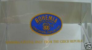 BOHEMIA-CRYSTAL-TRIANGULAR-SIGN-STAND-MINT