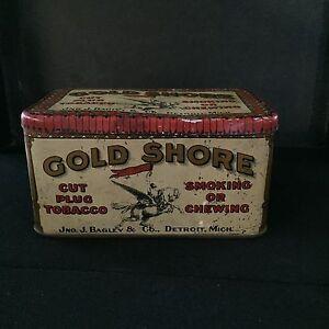 GOLD SHORE TOBACCO TIN!