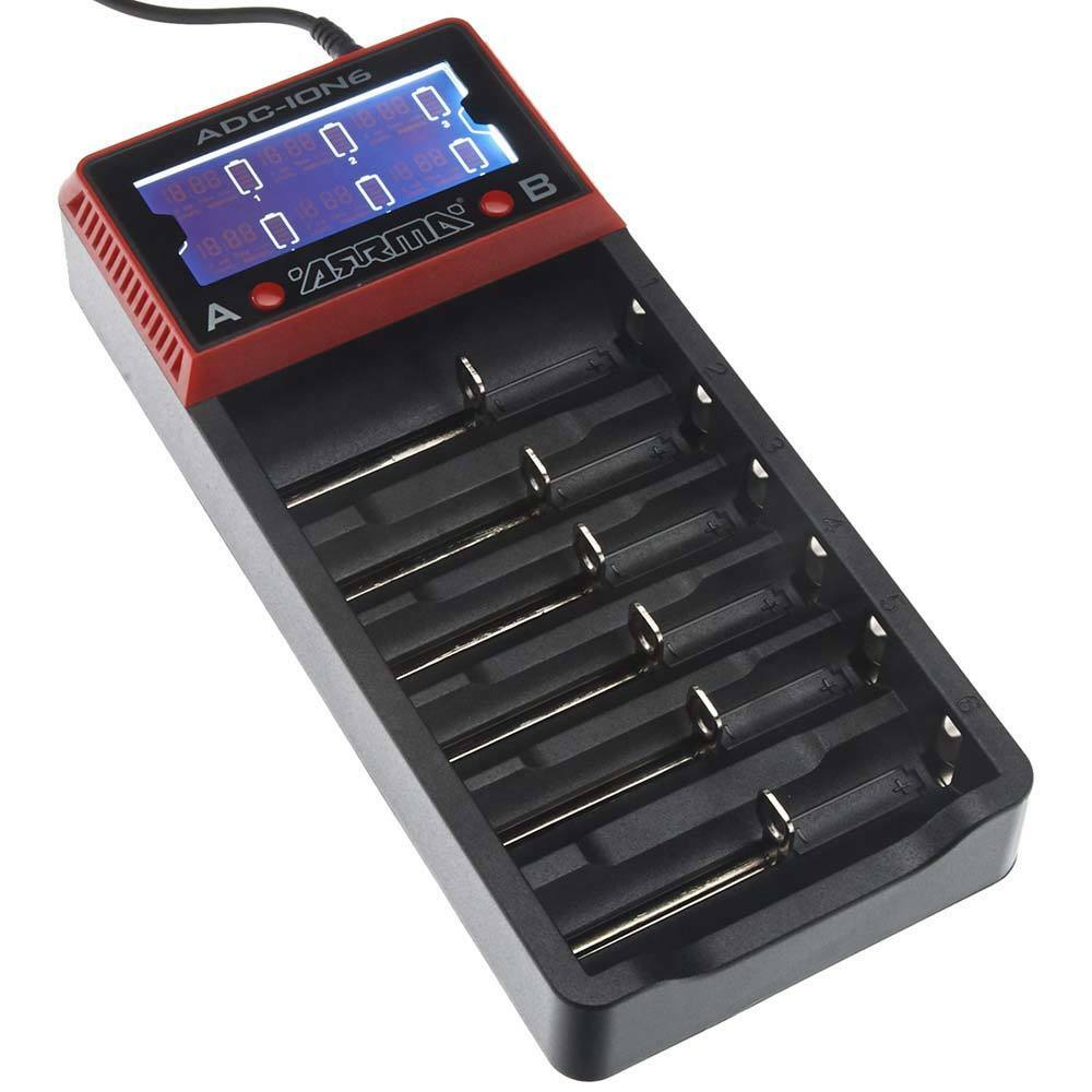 Arrma AR390262  18650 Li-Ion 6-Bay Battery Charger  offrendo il 100%