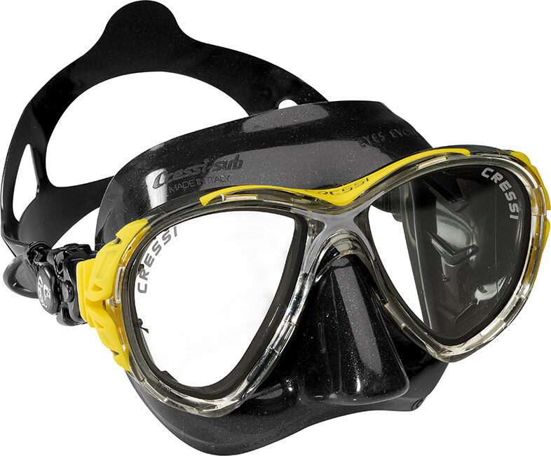 Cressi Sub Eyes Evolution 2 Lens Scuba Diving Silicone Mask Made in  Yellow