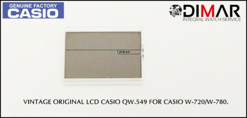 REPLACEMENT VINTAGE ORIGINAL LCD CASIO QW-549 NOS FOR CASIO W-720//W-780.