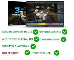 Details about TOONTRACK TOON TRACK SUPERIOR DRUMMER 3 0 VIRTUAL DRUMMING  SOFTWARE PC MAC LICEN