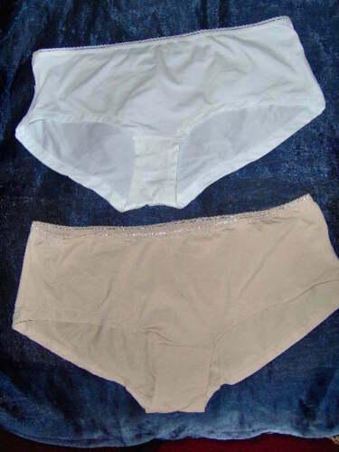 SIZES 8-14 NUDE or WHITE LADIES EX-STORE PLAIN SHORTS