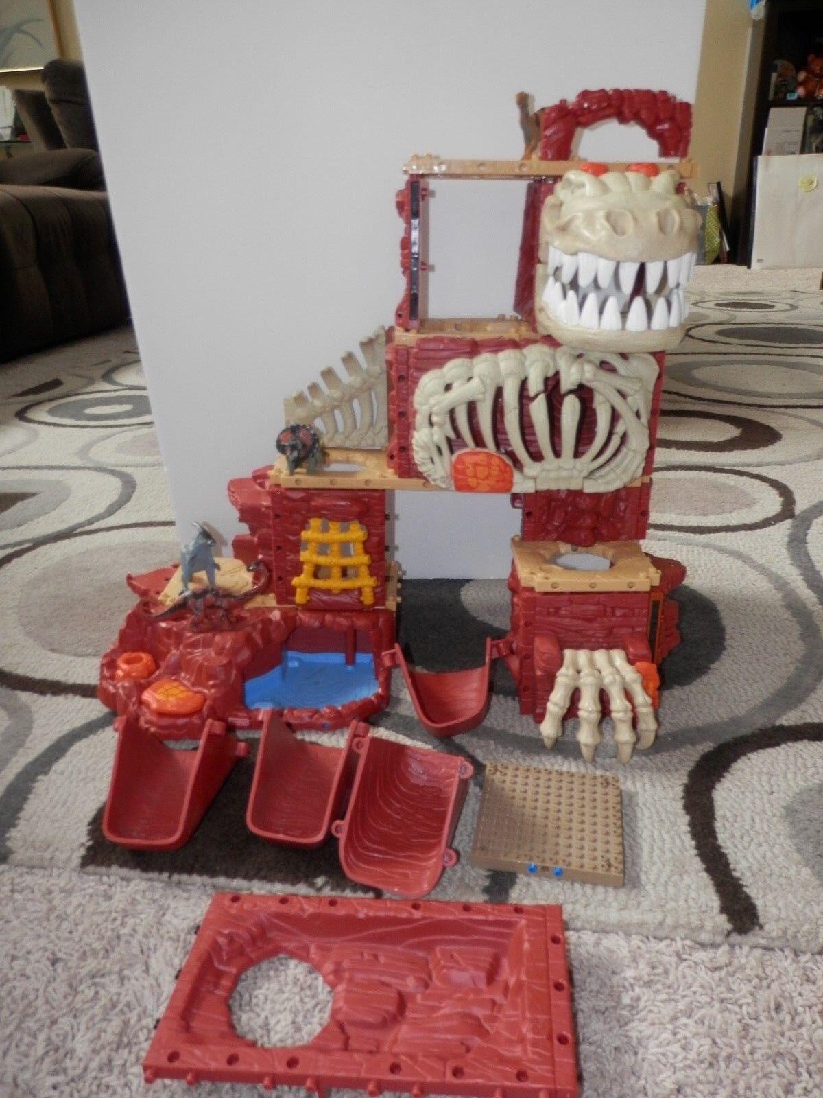 Fisher Price Imaginext T-Rex Mountain Lights Sounds Dinosaur Play set set set bcc6ce