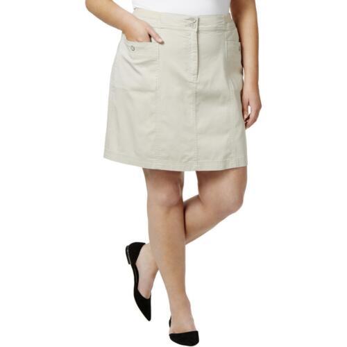 Karen Scott Plus Size Casual Knee-Length Skort 18W Stonewall Beige #495