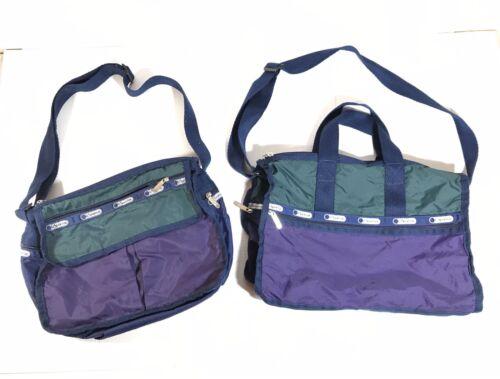 2 Lesportsac Vintage Messenger Crossbody Bags Matc