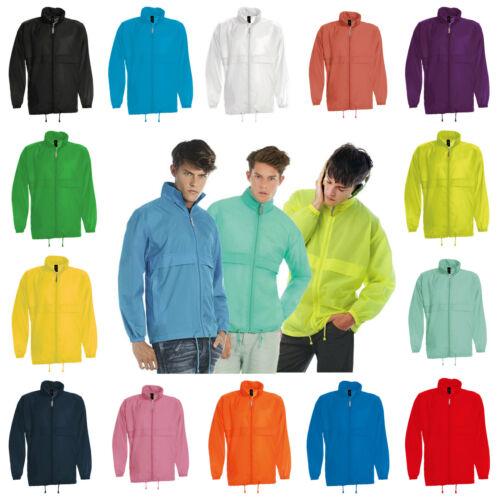 Mens Light Packaway Kagoul Rain Coat Jacket Pac Mac Kagool Cagoule Windproof
