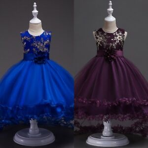 US-Toddler-Kids-Girl-Princess-Dress-Flower-Wedding-Party-Pageant-Formal-Dresses