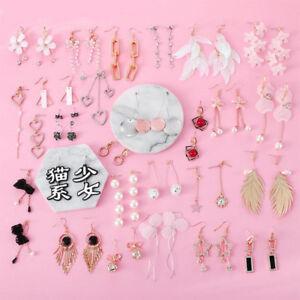 Women-Fashion-Hook-Jewelry-Charm-Dangle-Drop-Earrings-Eardrop-Wholesale-Pendant