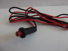 Car Alarm Dummy Fake  12V Flashing  RED  LED  Light  Pre Wired Van Motorbike