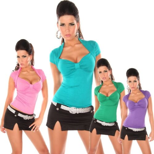 Top Bolero Look Damen Shirt ONESIZE 34 36 38 S M L