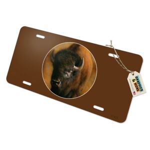 Bison-Buffalo-on-the-Praire-Field-Novelty-Metal-Vanity-Tag-License-Plate