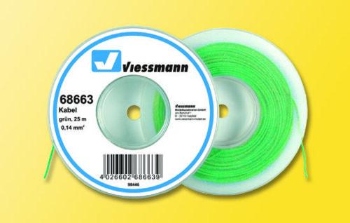 Viessmann Kabel auf Abrollspule 0,14 qmm grün 25 m
