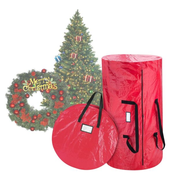 elf stor deluxe red christmas tree storage bag 30 inch wreath bag