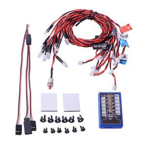 12-Lampara-luz-principal-LED-intermitente-sistema-2-4G-CH2-kit-para-RC-coche-camion-a-escala-1-10