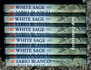 Hem-White-Sage-Incense-6-x-20-Stick-120-Sticks-Cleansing-Smuding-NEW