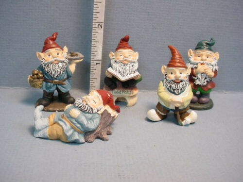 Miniature Garden Gnomes #T8530 Town Square REDUCED 5 diff