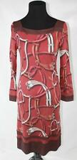 AUTH $1695 Gucci Women Red 3/4 Sleeve Dress S