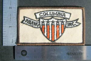 COLUMBIA-PAVING-EMBROIDERED-SEW-ON-ONLY-PATCH-ASPHALT-COMPANY-3-1-2-034-x-2-034