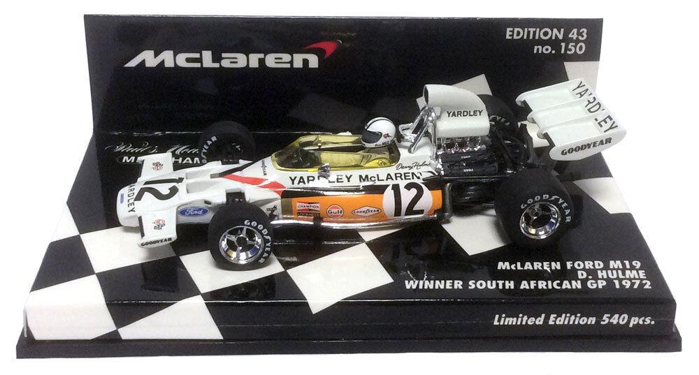 Minichamps McLaren M19 Yardley South African GP 1972 - Denny Hulme 1 43 Scale