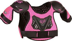 Fox-Racing-PeeWee-Titan-Pink-Roost-Deflector-Chest-Protector-Youth-Girl-039-s-MX-ATV