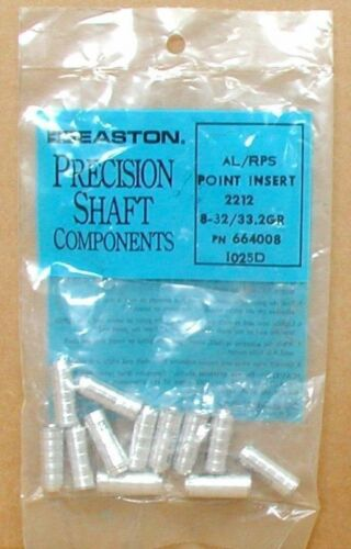 Easton Precision AL//RPS point Inserts 2212-New Pack