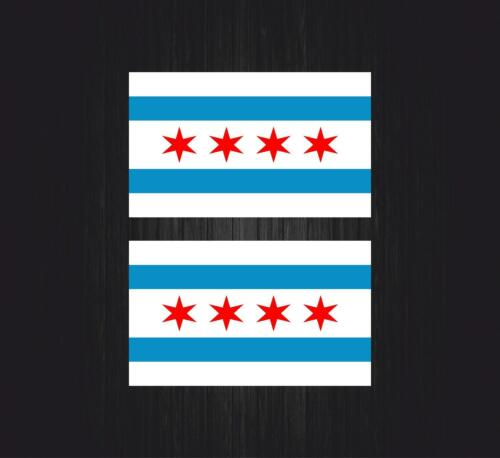 2 x Sticker decal flag tuning bumper jdm dub car motorcycle vinyl chicago usa