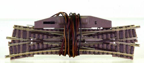 Doppelkreuzungsweiche 15° N Fleischmann 9184//6441 links kreuzend – elektr