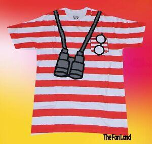 New-Where-039-s-Waldo-1987-Costume-Mens-Retro-Vintage-T-Shirt