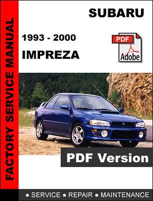 Subaru Impreza 2001 2002 Service Repair Workshop Factory Manual Disc