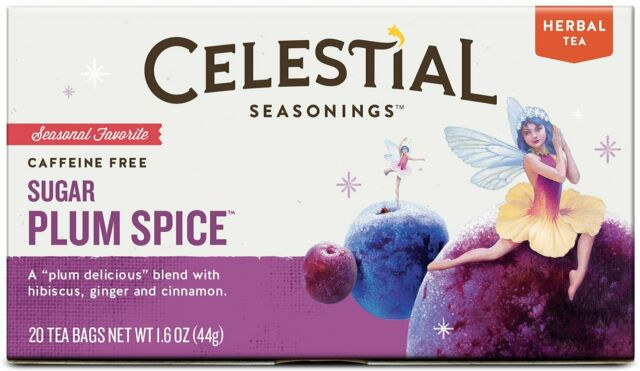 Sugar Plum Spice Holiday Tea by Celestial Seasonings, 6 Boxes